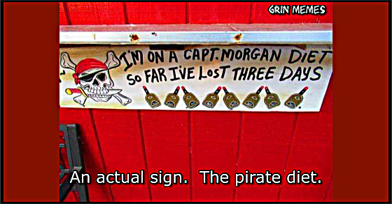 Pirate diet sign