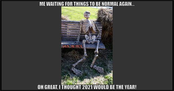 Skeleton 2021 meme