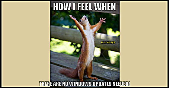 Windows update meme