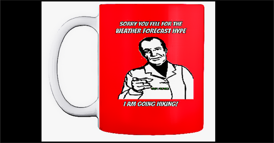 weather forecast for hiking mug