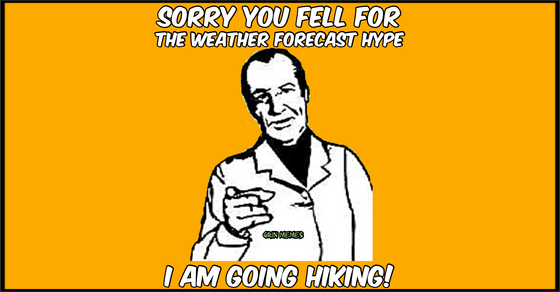 weather forecast for hiking meme